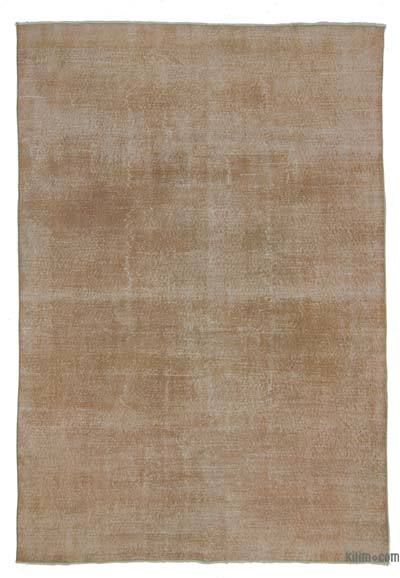 "Over-dyed Turkish Vintage Rug - 6'8"" x 9'8"" (80 in. x 116 in.)"