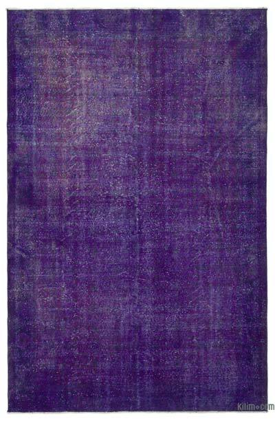 "Over-dyed Turkish Vintage Rug - 6' 10"" x 10' 3"" (82 in. x 123 in.)"