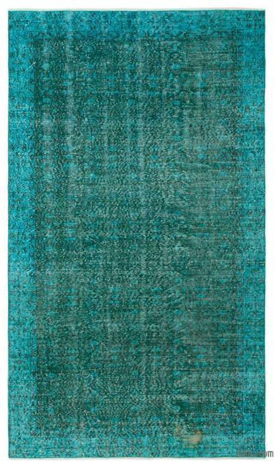 """Over-dyed Turkish Vintage Rug - 5' 1"""" x 9' 1"""" (61 in. x 109 in.)"""