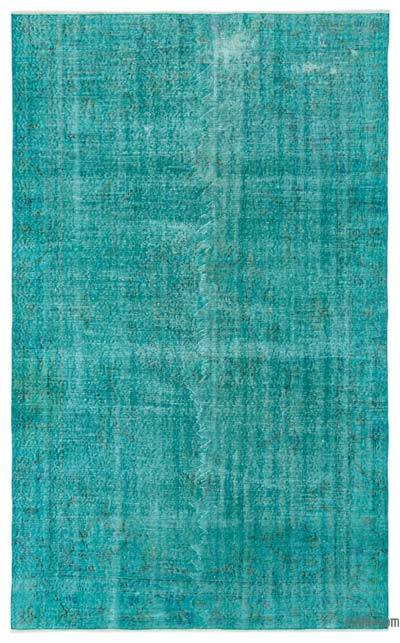 """Over-dyed Turkish Vintage Rug - 5' 9"""" x 9' 1"""" (69 in. x 109 in.)"""