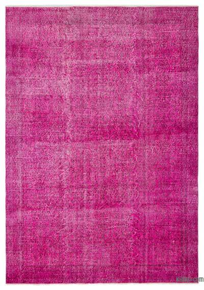 "Over-dyed Turkish Vintage Rug - 6'4"" x 9'1"" (76 in. x 109 in.)"