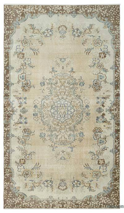 """Over-dyed Turkish Vintage Rug - 5' 3"""" x 9' 1"""" (63 in. x 109 in.)"""