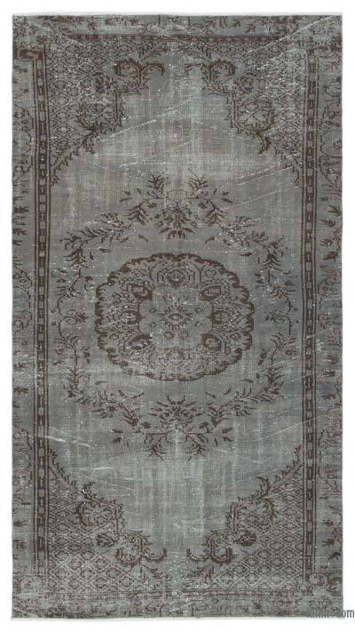 "Over-dyed Turkish Vintage Rug - 4'8"" x 8'6"" (56 in. x 102 in.)"