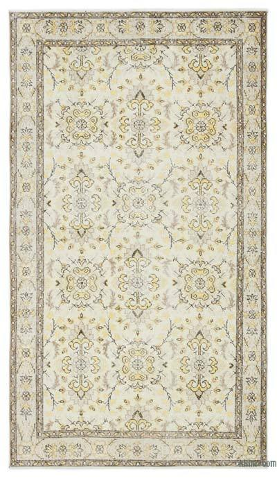 "Over-dyed Turkish Vintage Rug - 3' 10"" x 7'  (46 in. x 84 in.)"