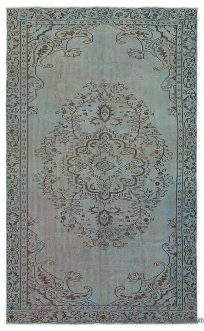 Boyalı El Dokuma Vintage Halı - 158 cm x 264 cm