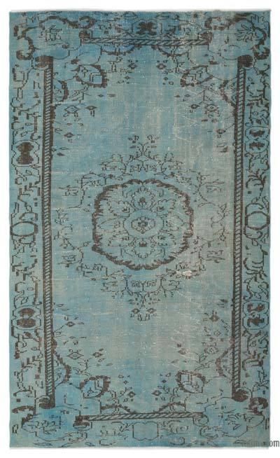 Boyalı El Dokuma Vintage Halı - 174 cm x 283 cm