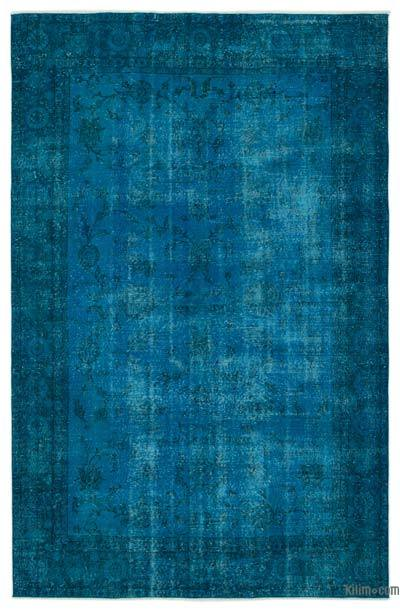 """Over-dyed Turkish Vintage Rug - 6' 2"""" x 9' 5"""" (74 in. x 113 in.)"""