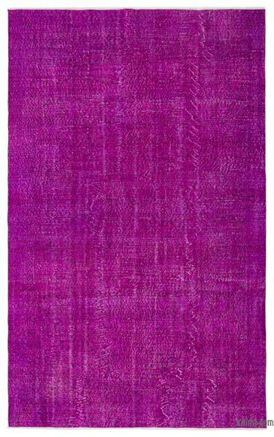 "Over-dyed Turkish Vintage Rug - 6' 2"" x 9' 7"" (74 in. x 115 in.)"