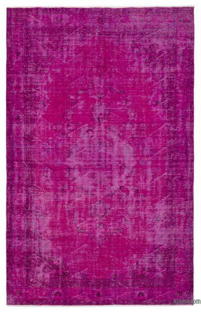 Boyalı El Dokuma Vintage Halı - 177 cm x 270 cm