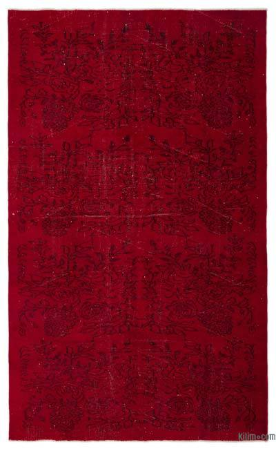 """Over-dyed Turkish Vintage Rug - 5'6"""" x 8'11"""" (66 in. x 107 in.)"""