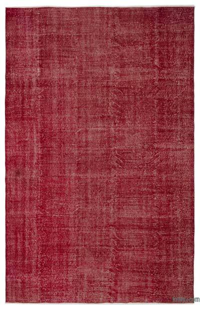 """Over-dyed Turkish Vintage Rug - 6' 9"""" x 10' 4"""" (81 in. x 124 in.)"""