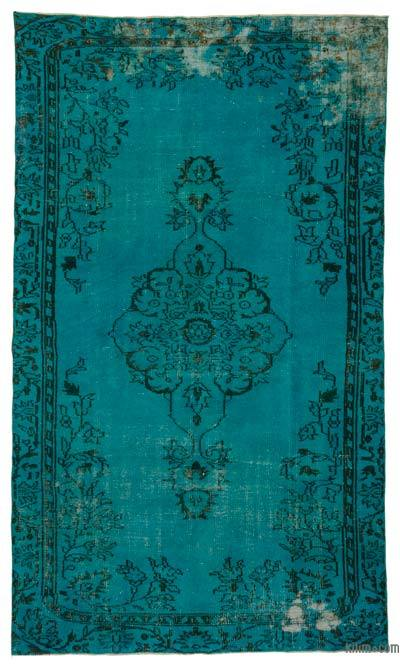 "Over-dyed Turkish Vintage Rug - 5' 3"" x 8' 10"" (63 in. x 106 in.)"
