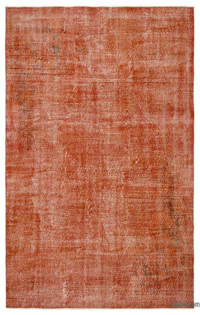 """Over-dyed Turkish Vintage Rug - 6'4"""" x 10'1"""" (76 in. x 121 in.)"""