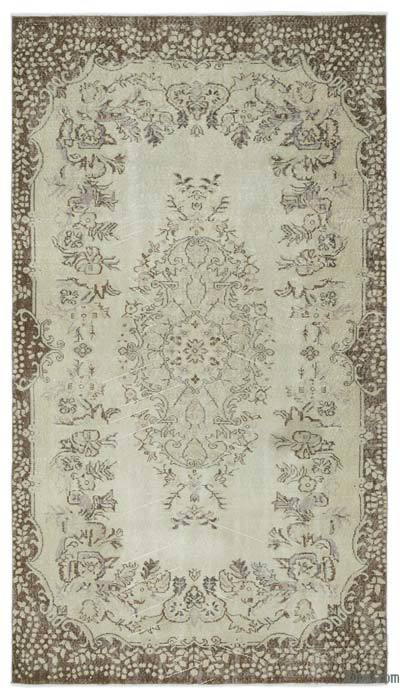 """Over-dyed Turkish Vintage Rug - 5' 5"""" x 9' 7"""" (65 in. x 115 in.)"""