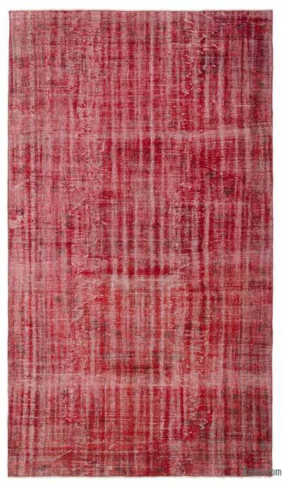 """Over-dyed Turkish Vintage Rug - 5'4"""" x 9'3"""" (64 in. x 111 in.)"""