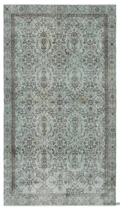 """Over-dyed Turkish Vintage Rug - 5'5"""" x 9'7"""" (65 in. x 115 in.)"""