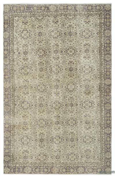 """Over-dyed Turkish Vintage Rug - 6'3"""" x 9'9"""" (75 in. x 117 in.)"""