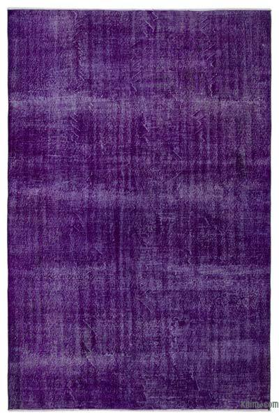 "Over-dyed Turkish Vintage Rug - 6'8"" x 9'11"" (80 in. x 119 in.)"