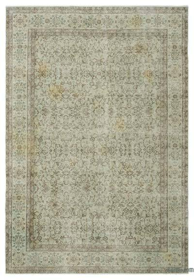 """Over-dyed Turkish Vintage Rug - 6'9"""" x 9'11"""" (81 in. x 119 in.)"""