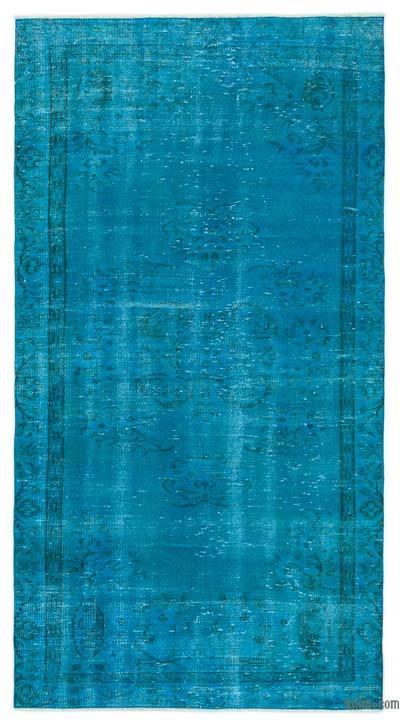 Boyalı El Dokuma Vintage Halı - 120 cm x 224 cm