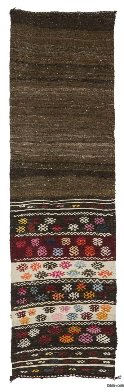 "Vintage Turkish Kilim Runner - 2'4"" x 8' (28 in. x 96 in.)"