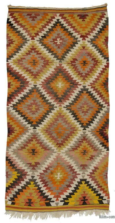 Alfombra Vintage Antalya Kilim - 160 cm x 319 cm