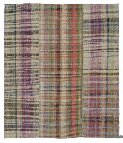 "Vintage Turkish Pala Kilim (Chaput) - 6'4"" x 7'7"" (76 in. x 91 in.)"