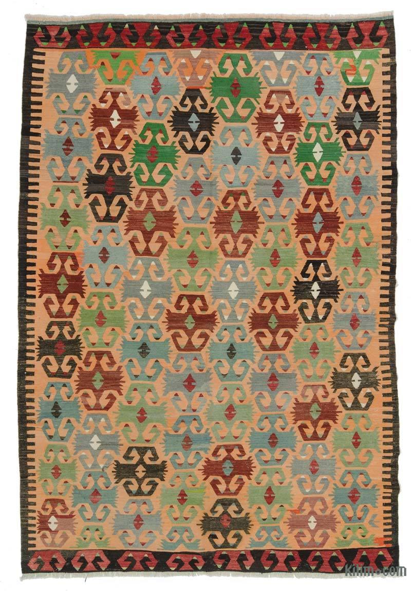 Multicolor Alfombra Vintage Afyon Kilim - 185 cm x 278 cm - K0025181