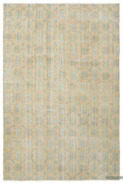 """Over-dyed Turkish Vintage Rug - 6'1"""" x 9'1"""" (73 in. x 109 in.)"""