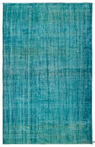 """Over-dyed Turkish Vintage Rug - 5' 11"""" x 9'  (71 in. x 108 in.)"""
