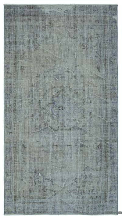 """Over-dyed Turkish Vintage Rug - 4'9"""" x 8'9"""" (57 in. x 105 in.)"""
