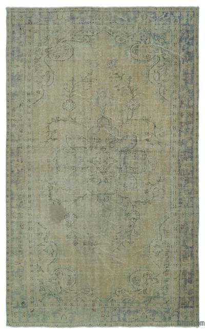 "Over-dyed Turkish Vintage Rug - 6' 3"" x 10' 4"" (75 in. x 124 in.)"