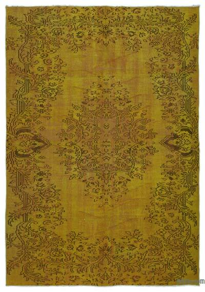 """Over-dyed Turkish Vintage Rug - 6'  x 8' 8"""" (72 in. x 104 in.)"""