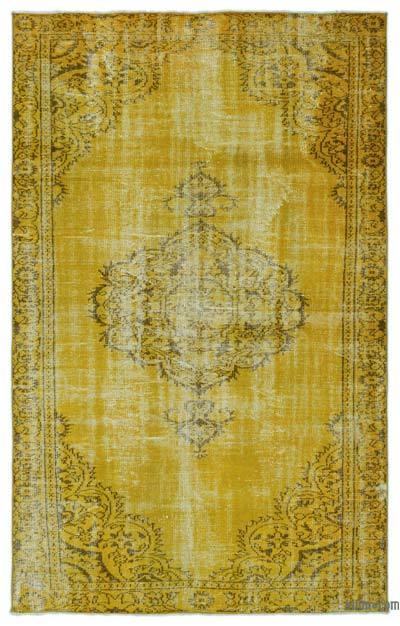Boyalı El Dokuma Vintage Halı - 173 cm x 278 cm
