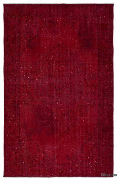 Boyalı El Dokuma Vintage Halı - 173 cm x 275 cm
