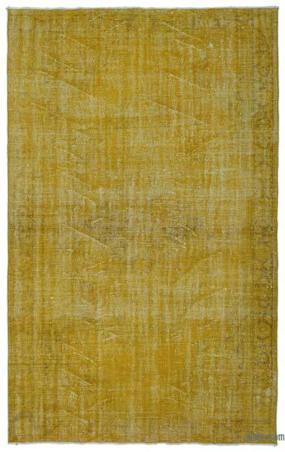 """Over-dyed Turkish Vintage Rug - 6' 5"""" x 10' 1"""" (77 in. x 121 in.)"""