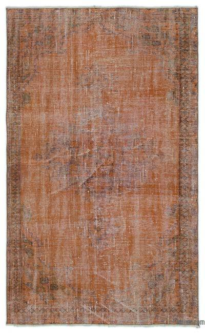 """Over-dyed Turkish Vintage Rug - 4'2"""" x 6'9"""" (50 in. x 81 in.)"""