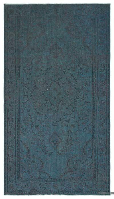 "Over-dyed Turkish Vintage Rug - 4'9"" x 8'10"" (57 in. x 106 in.)"
