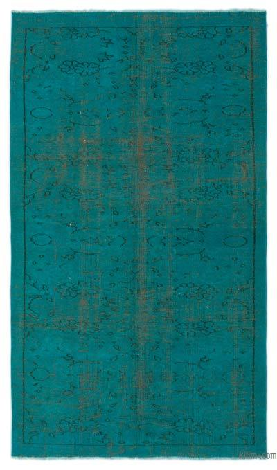 Alfombra Turca Vintage Sobre-teñida - 122 cm x 210 cm