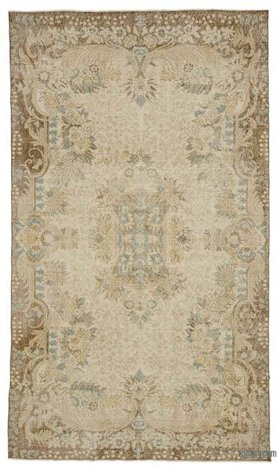 "Turkish Vintage Area Rug - 5' 8"" x 9' 7"" (68 in. x 115 in.)"