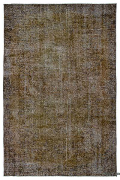 """Over-dyed Turkish Vintage Rug - 5' 9"""" x 8' 10"""" (69 in. x 106 in.)"""