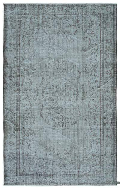 """Over-dyed Turkish Vintage Rug - 6'1"""" x 9'6"""" (73 in. x 114 in.)"""