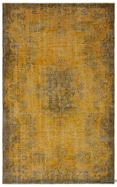 """Over-dyed Turkish Vintage Rug - 5' 11"""" x 9' 5"""" (71 in. x 113 in.)"""