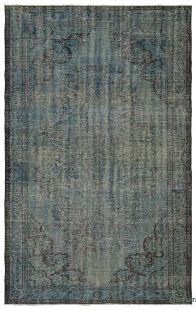Boyalı El Dokuma Vintage Halı - 172 cm x 277 cm
