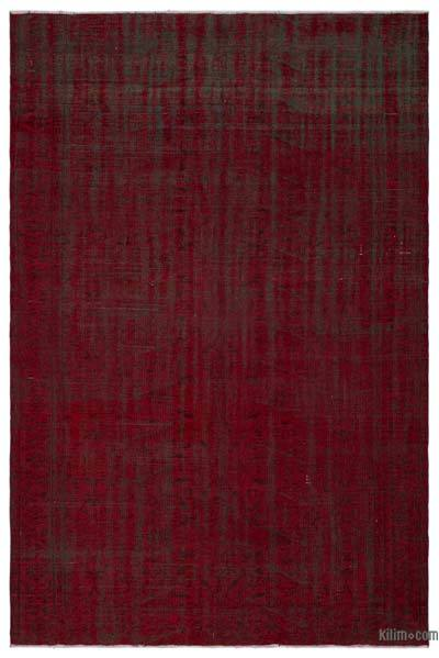 """Over-dyed Turkish Vintage Rug - 5' 10"""" x 9' 1"""" (70 in. x 109 in.)"""