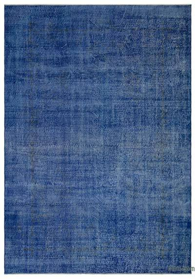 "Blue Over-dyed Turkish Vintage Rug - 6' 11"" x 9' 11"" (83 in. x 119 in.)"