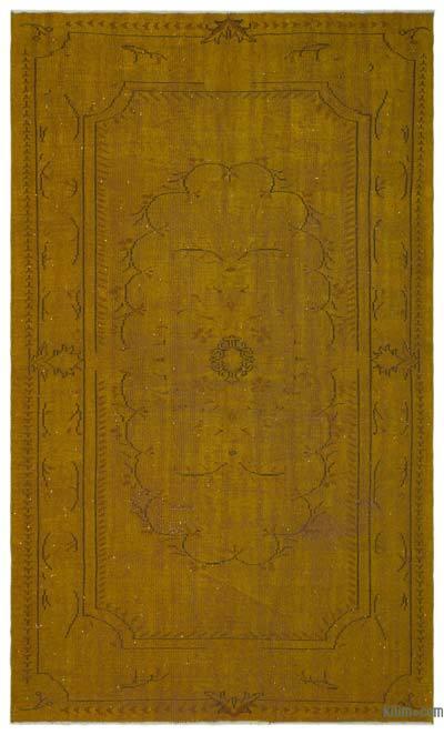 Boyalı El Dokuma Vintage Halı - 194 cm x 315 cm