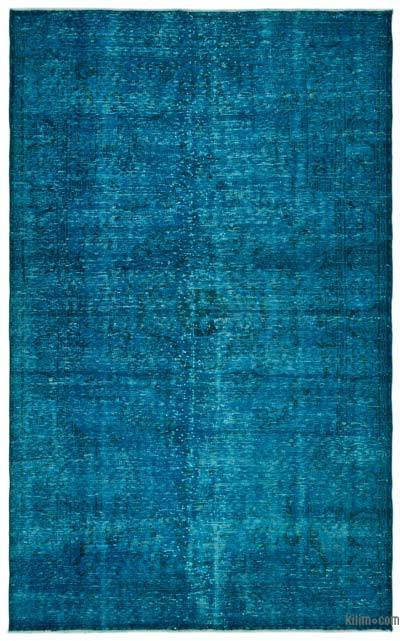 "Over-dyed Turkish Vintage Rug - 5' 10"" x 9' 8"" (70 in. x 116 in.)"