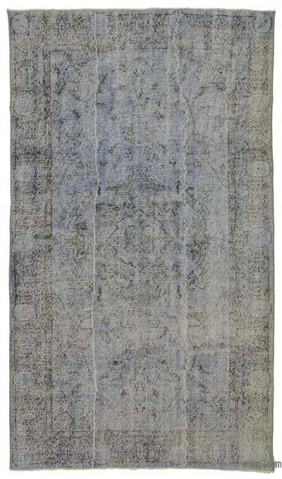 """Over-dyed Turkish Vintage Rug - 5' 2"""" x 9' 1"""" (62 in. x 109 in.)"""