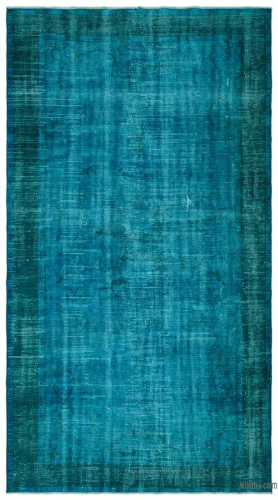 """Over-dyed Turkish Vintage Rug - 5' 3"""" x 9' 8"""" (63 in. x 116 in.)"""